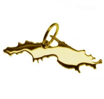 ST. THOMAS Kettenanhänger aus massiv 585 Gold