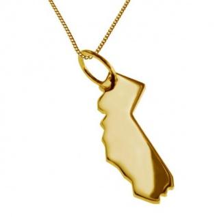 KALIFORNIEN Kettenanhänger aus massiv 585 Gelbgold mit Halskette