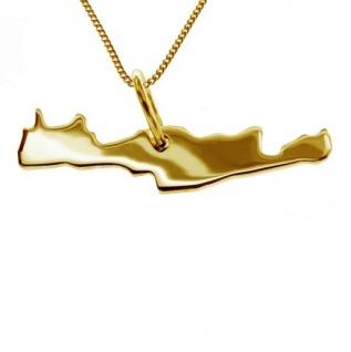 KRETA Kettenanhänger aus massiv 585 Gelbgold mit Halskette