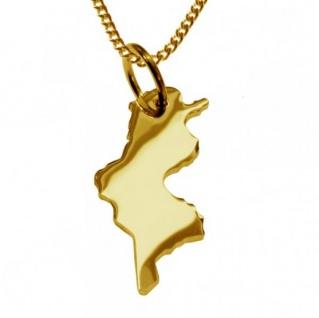TUNESIEN Kettenanhänger aus massiv 585 Gelbgold mit Halskette