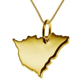 NICARAGUA Kettenanhänger aus massiv 585 Gelbgold mit Halskette
