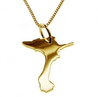 FORMENTURA Kettenanhänger aus massiv 585 Gelbgold mit Halskette