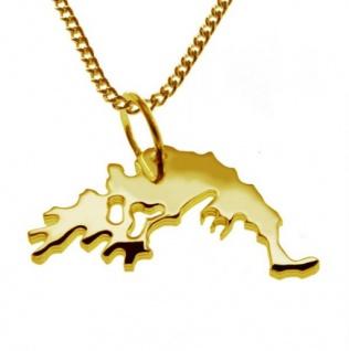 GRIECHENLAND Kettenanhänger aus massiv 585 Gelbgold mit Halskette