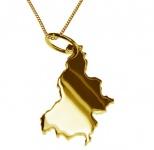 SLOWENIEN Kettenanhänger aus 585 Gelbgold mit Halskette