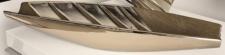 GILDE Deko-Schale in matt Grau Silber aus Keramik, 42 x 13 x 6 cm