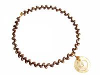Halskette mit Anhänger, Bronze Zuchtperlen