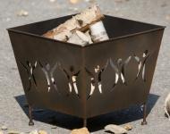 GILDE Feuerschale New Friendship aus Metall, 43 x 43 x 38 cm