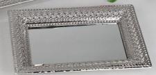 Romantik Tablett eckig silber, 32 cm