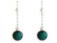 Gemshine Damen Ohrringe Ohrhänger 925 Silber Smaragd Grün 2 cm