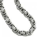 Königskette Edelstahl 50 cm Karabiner Halskette 6, 6 mm breit