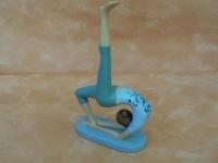 Yoga-Frau in tollen Farben
