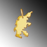 DÄNEMARK Kettenanhänger aus 585 Gelbgold