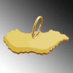 UNGARN Kettenanhänger aus massiv 585 Gold