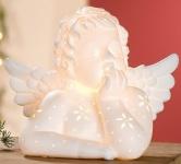 GILDE Porzellan Tischlampe Engel Raphael, 15 x 25 x 20 cm