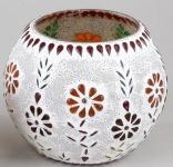 formano Windlicht Mosaik-Glas Multicolor Blume 15 cm