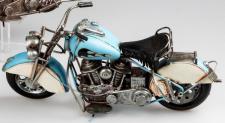 formano nostalgisches Modell Motorrad, 38 cm, blau