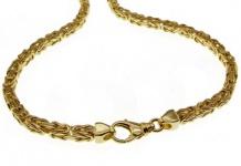 90 cm Königskette - 585 Gelbgold - 4 mm