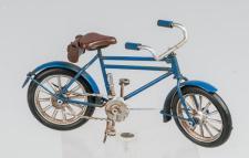 formano Modell Fahrrad aus Metall in Blau, 16 cm