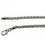 38 cm Zopfkette - 750 Weißgold - 2 mm Halskette