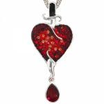 Collier mit Anhänger Herz 925 Sterling Silber Swarovski-Elements 47 cm