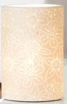 GILDE Tischlampe Prickel Blume mit Durchbrüchen, 10 x 18 x 28 cm