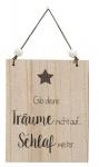 """GILDE Wandschild mit Aufschrift """" Gib deine Träume..."""", 15 x 19 cm"""