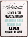 Lafinesse Blechschild als Wandbild mit Aufschrift, 26 x 35 cm