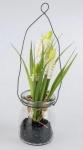 formano Deko Muscari gelb im Glas zum Aufhängen, 17 cm