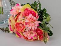 formano Kunstblume Rosenstrauß in Rosa, 30 cm