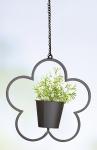 Blumenampel Blume aus Metall, 36 cm