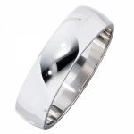 Armreif oval breit 925 Sterling Silber Kastenschloss Silberarmreif