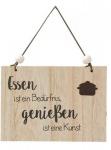 """GILDE Wandschild mit Aufschrift """" Essen ist..."""", 18 x 13 cm"""