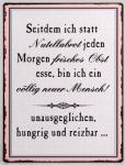 Lafinesse Blechschild, Wandbild mit Aufschrift, 26 x 35 cm