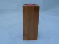 Teelichthalter aus Holz ca. 15 cm hoch