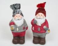 Lustige Weihnachtsmänner mit echter Stoffmütze, 10 x 4 cm