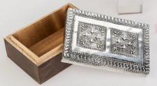 formano Schmuckdose Holz Metall mit 2 Reliefs, 10 x 15 cm