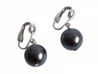 Ohrclips Perlen *Tahiti Grau* 925 Silber