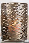 GILDE Kerzenleuchter aus Metall Antik Gold, 16 x 11, 5 cm