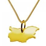 BULGARIEN Kettenanhänger aus 585 Gelbgold mit Halskette