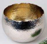 formano Windlicht Kugel Aura Nickel gold, 20 cm