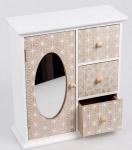 Schmuckschrank mit drei Schubladen aus Holz, 24 x 10 x 27 cm