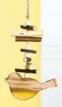GILDE Dekohänger Vogel aus Holz mit Stöckchendeko, 25 cm