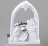 formano Teelichtleuchter Krippe aus Porzellan in Weiß, 10 cm