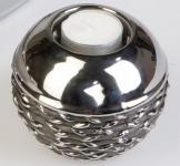 formano Teelichthalter aus Keramik Black Rope 10 cm