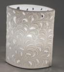 Lampe Oval Harmonie Romantik aus Porzellan 17 x 21 cm