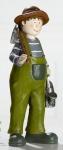 GILDE Gartenfigur Erhard mit Gießkanne und Hacke, 9 x 8 x 21 cm