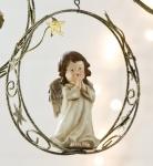 Weihnachtliche Hängedeko Engel im Sternenring, 18 cm
