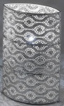 formano Lampe Kugel Capri silber, oval 18 x 31 cm
