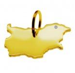 BULGARIEN Kettenanhänger mit Brillant am Wunschort 585 Gelbgold