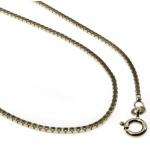 36 cm Venezianerkette - 585 Weißgold â€? 0, 9 mm Halskette